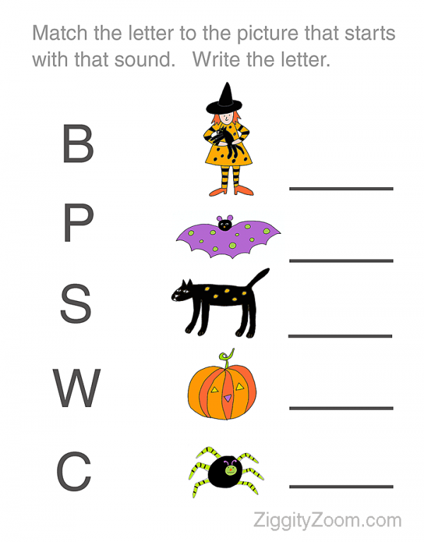 Number Names Worksheets halloween centers for kindergarten – Halloween Worksheet for Kindergarten