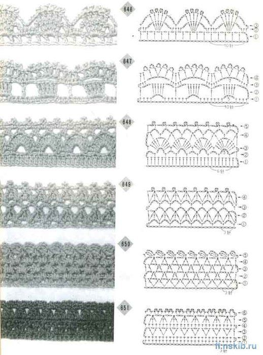 A group of crochet edges patterns. wonderful crochet edges ...