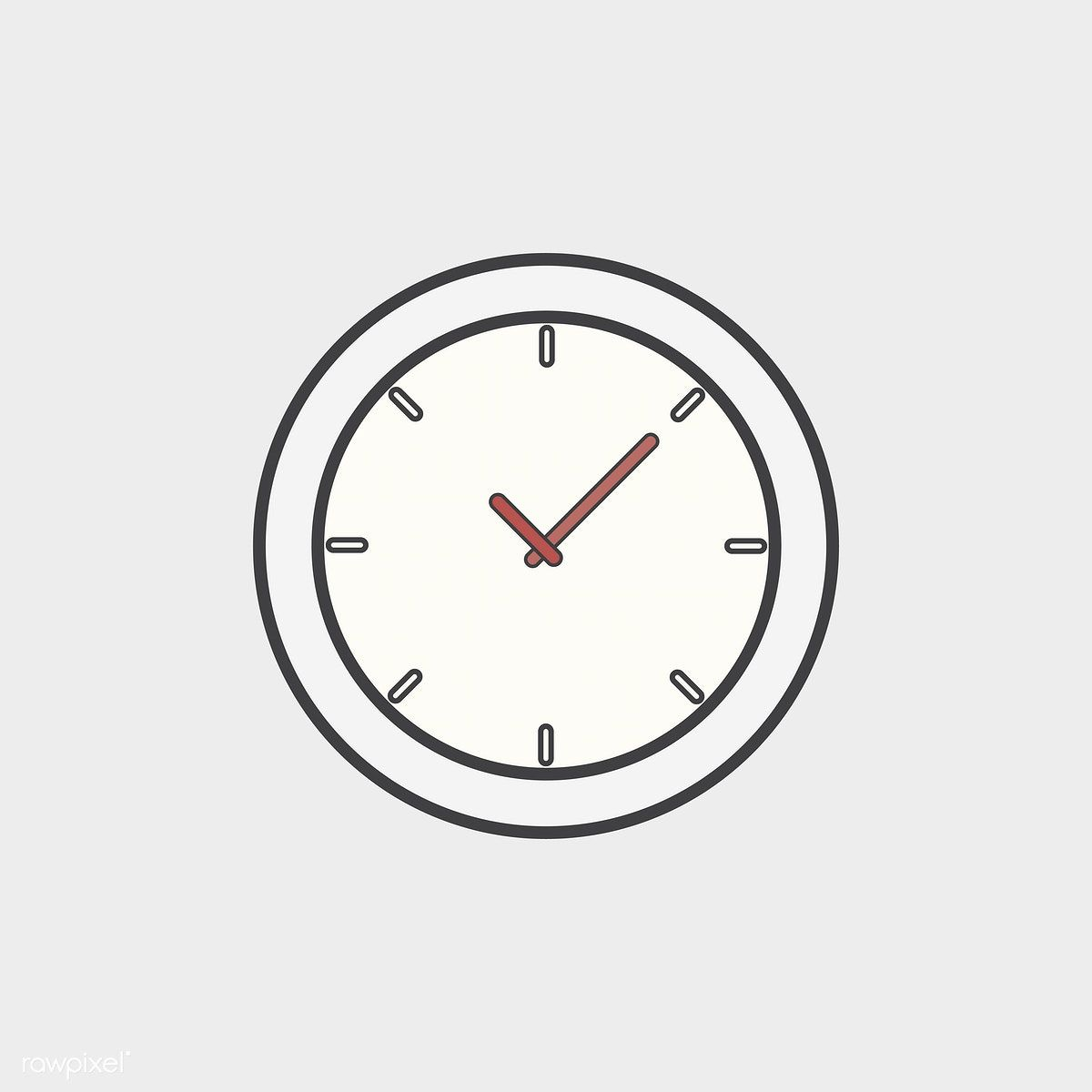 Illustration Of Clock Icon Free Image By Rawpixel Com Clock Icon Icon Apple Icon