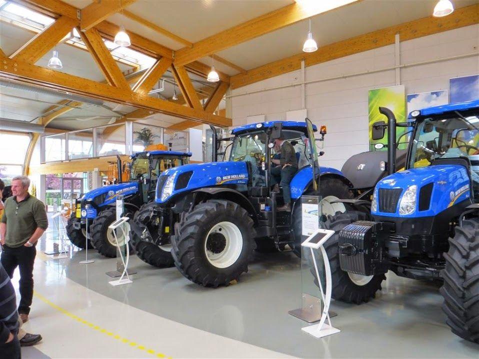 New Holland Tractors At Zedelgem Combine Factory Belgium New