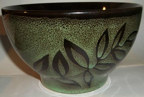 Mystic Passage Home Collection Bowl Green Black Home Decor