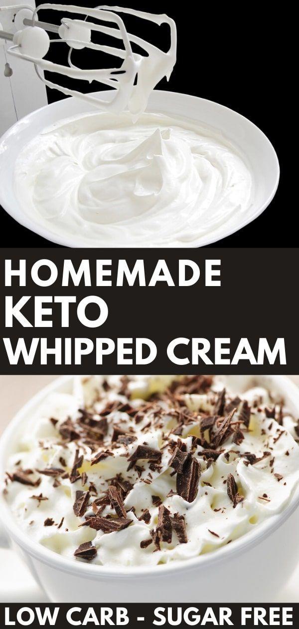 Easy Homemade Keto Whipped Cream Recipe [Low Carb, Sugar-Free]