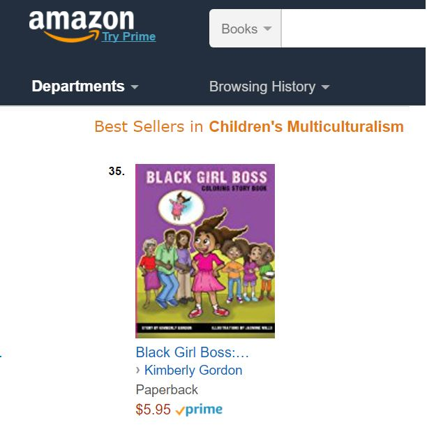 Black Girl Boss Coloring Book At 35 On Amazon Best Sellers List