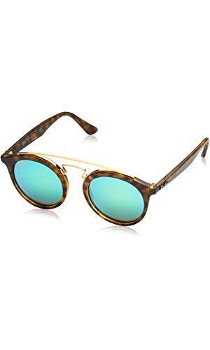 1d8b699eea2 Ray-Ban INJECTED UNISEX SUNGLASS - MATTE HAVANA Frame GREEN MIRROR GREEN  Lenses 46mm Non-Polarized