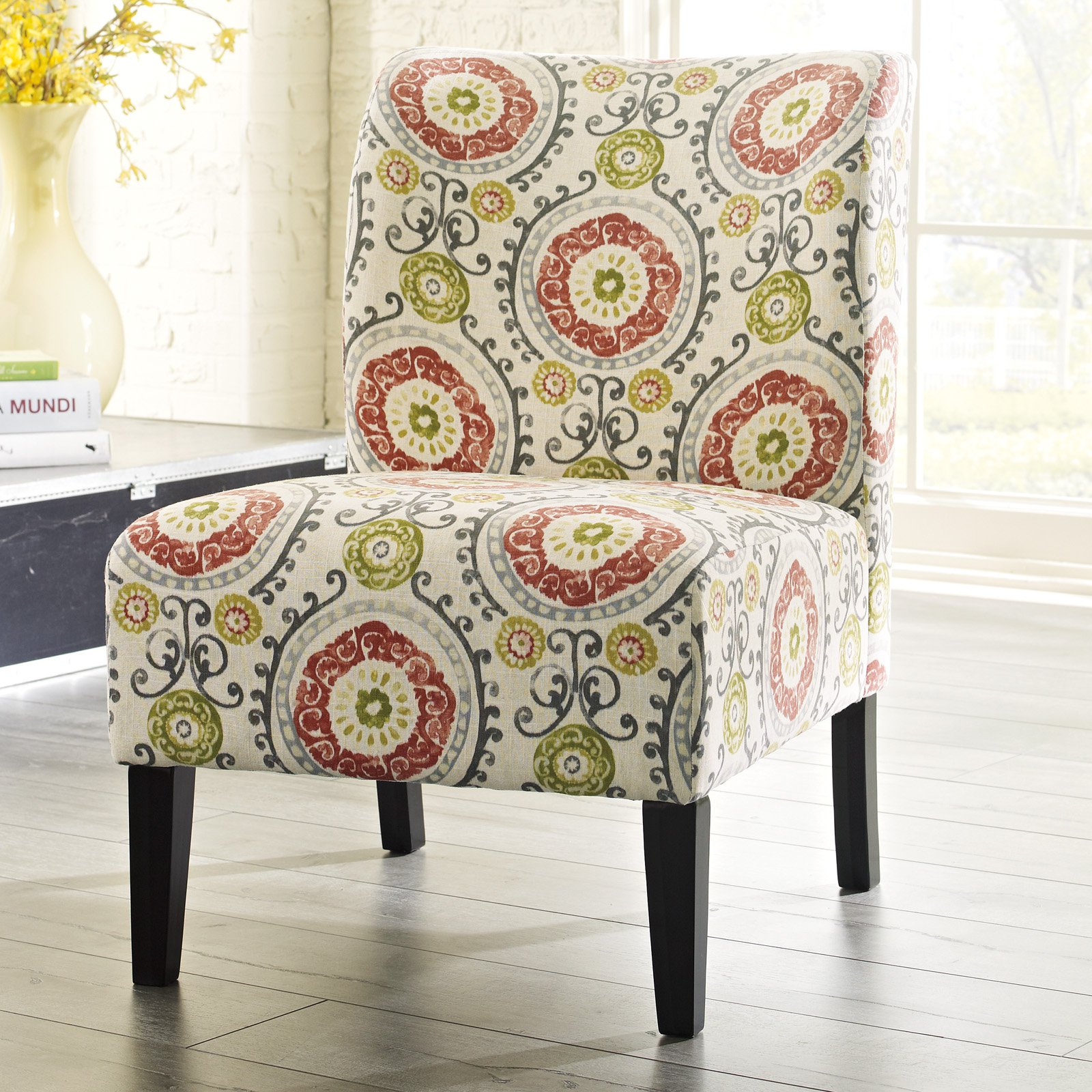 Signature Design By Ashley Honnally Floral Accent Chair Floral Accent Chair Upholstered Occasional Chairs Ashley Furniture
