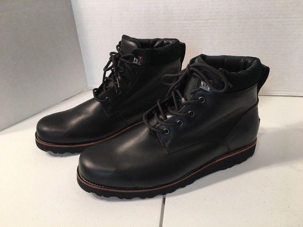 31bcb53c9c8 UGG Seton TL Black Boots Sz 15 Vibram Outsole Waterproof Leather ...