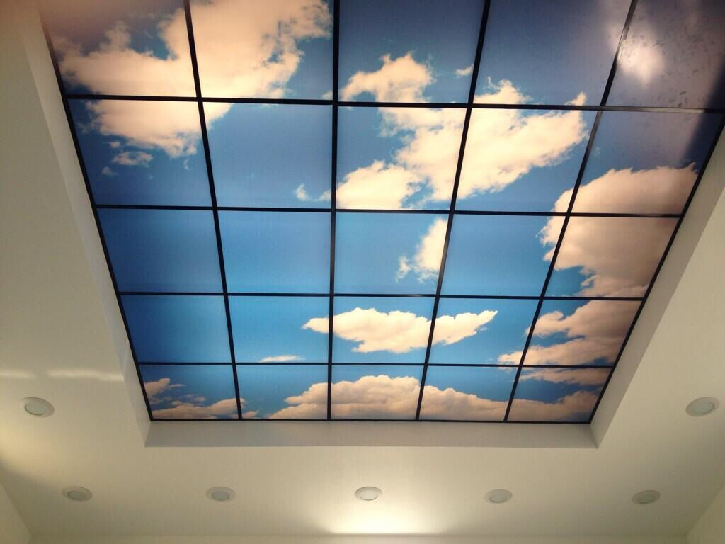 Breast feeding room must haves led skylights digital wall murals artificial sky worlds largest sky ceilings made from acoustic ceiling tiles led skylights and virtual sky ceiling panels for windowless environments dailygadgetfo Image collections