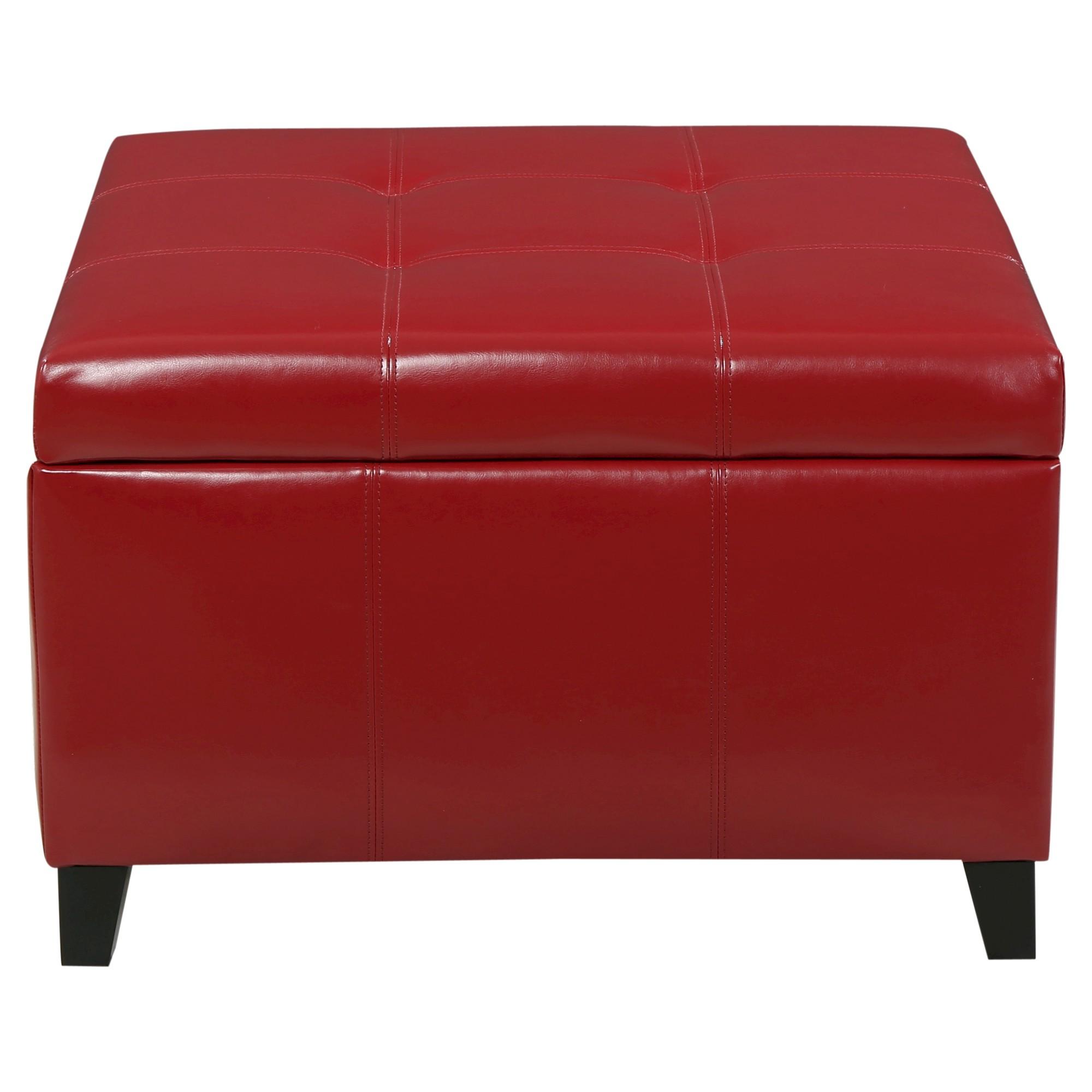 Outstanding Cortez Faux Leather Storage Ottoman Christopher Knight Machost Co Dining Chair Design Ideas Machostcouk