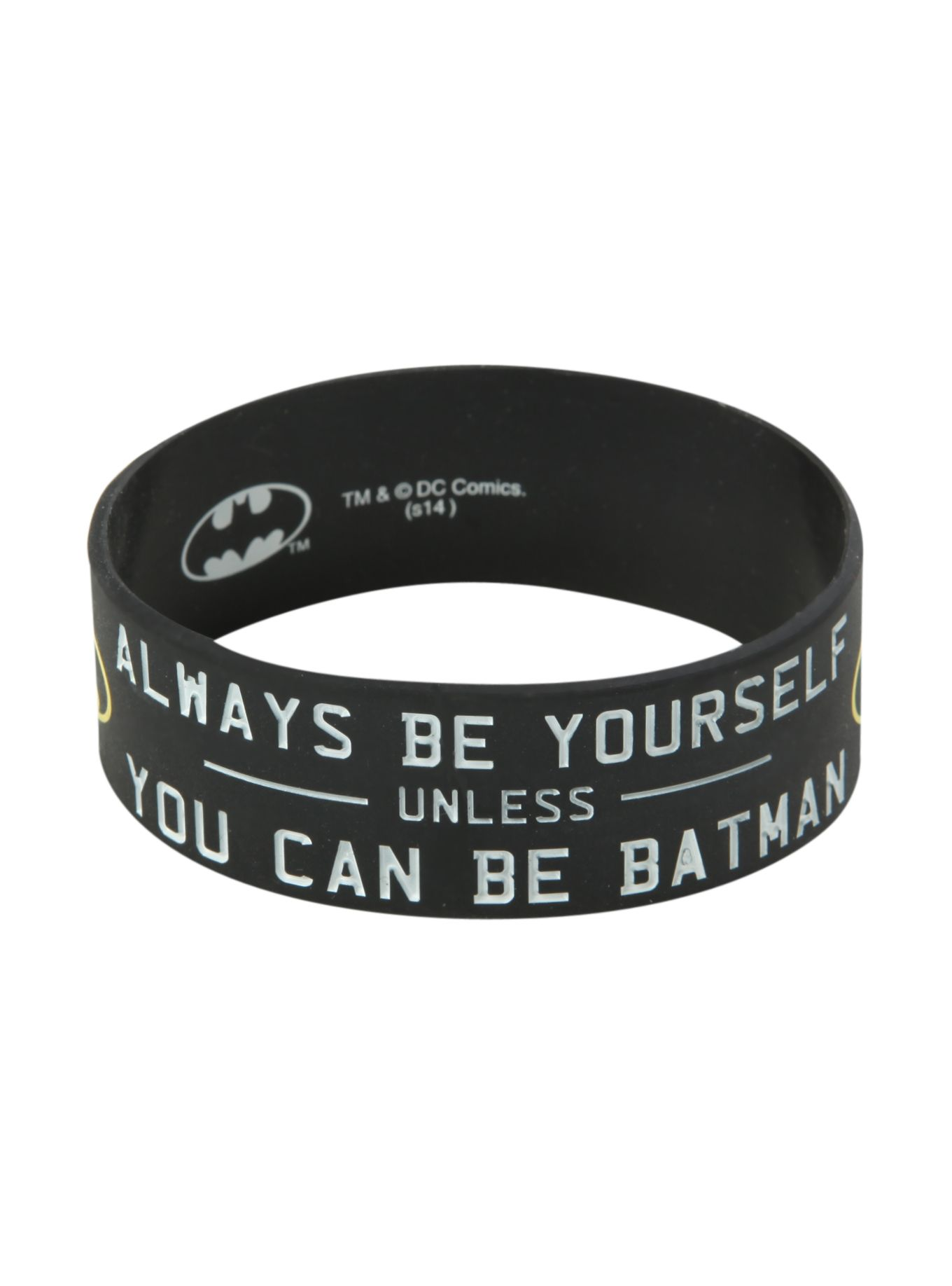 Dc Comics Batman Be Yourself Rubber Bracelet Hot Topic