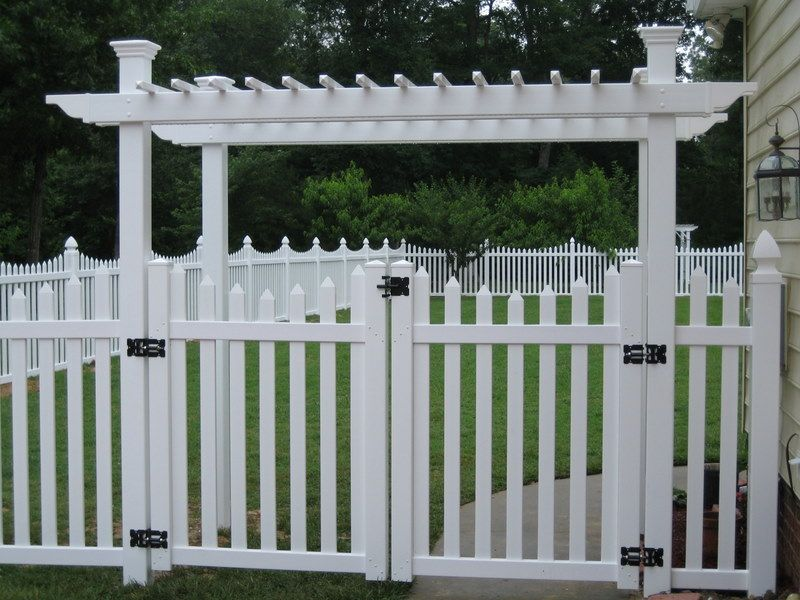 6 foot picket fence with gate arbor google search