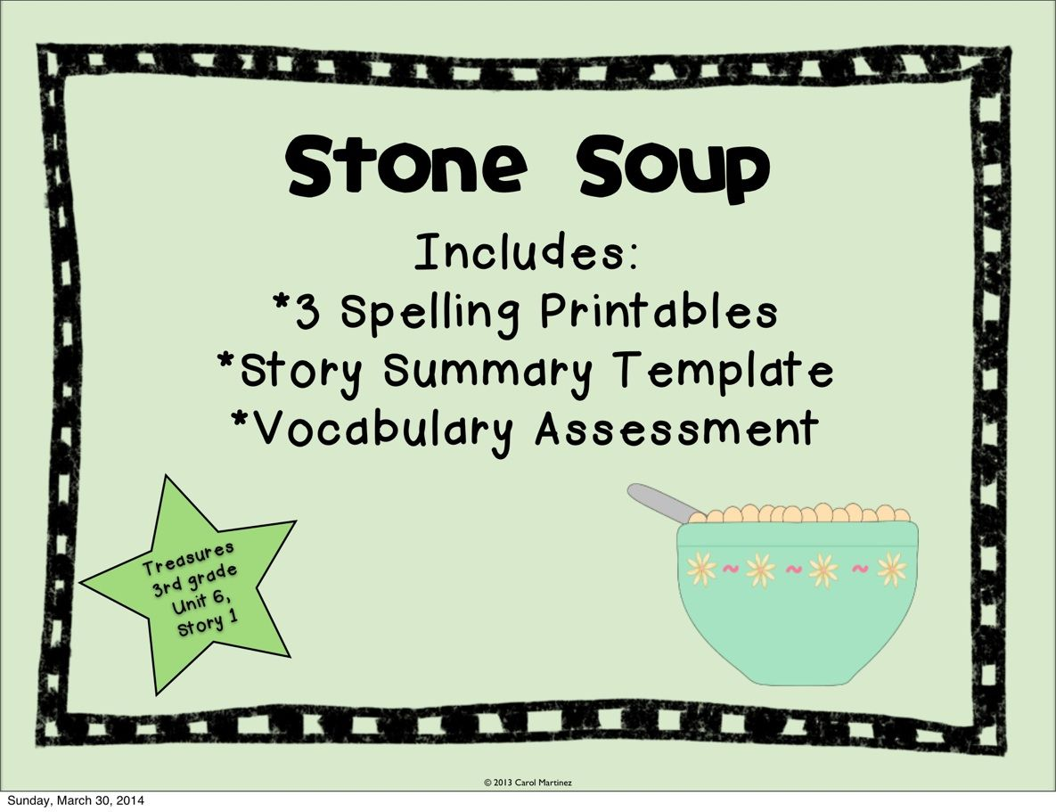 Stone Soup Story Booster Pack