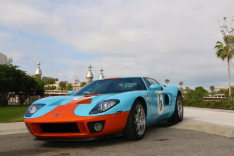 Ford Ford Gt Blue Orange Livery
