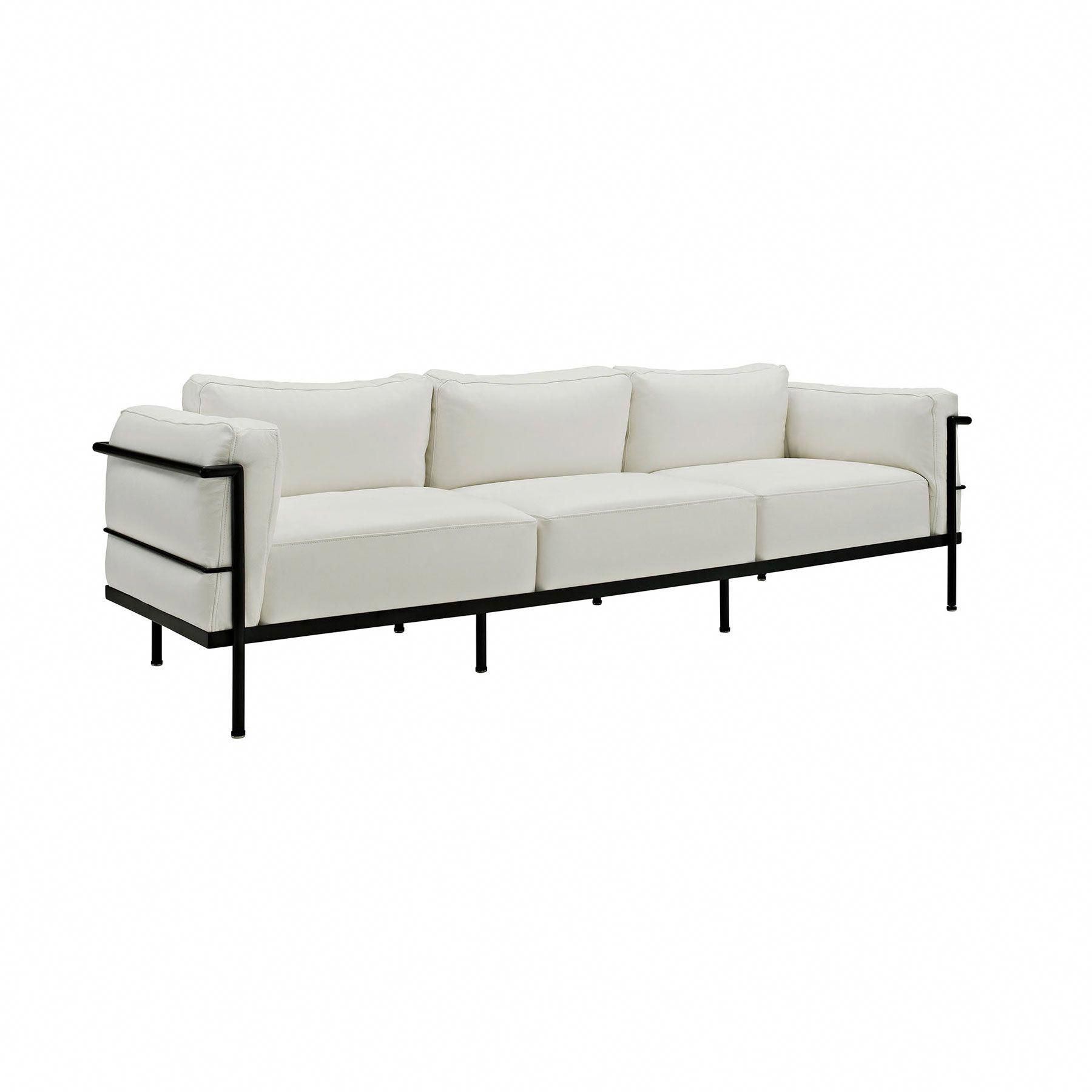 Cubic Sofa In White Dotandbo Com Sofa