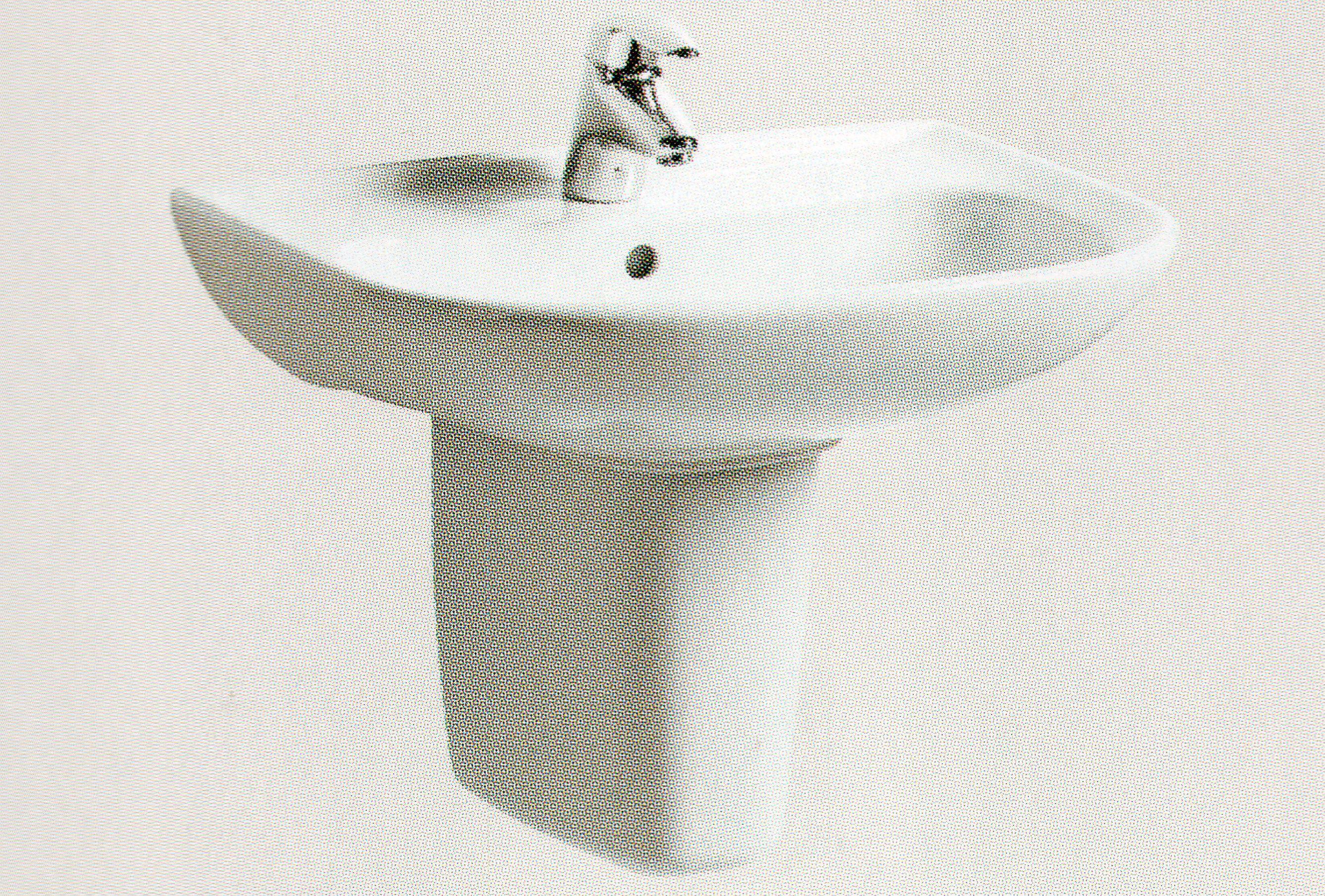Smart Waschbecken Mit Zusatzlicher Halbsaule Haustechnik