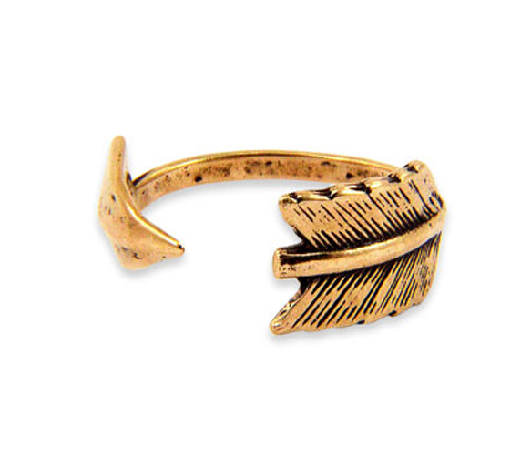 Bronze Arrow Ring