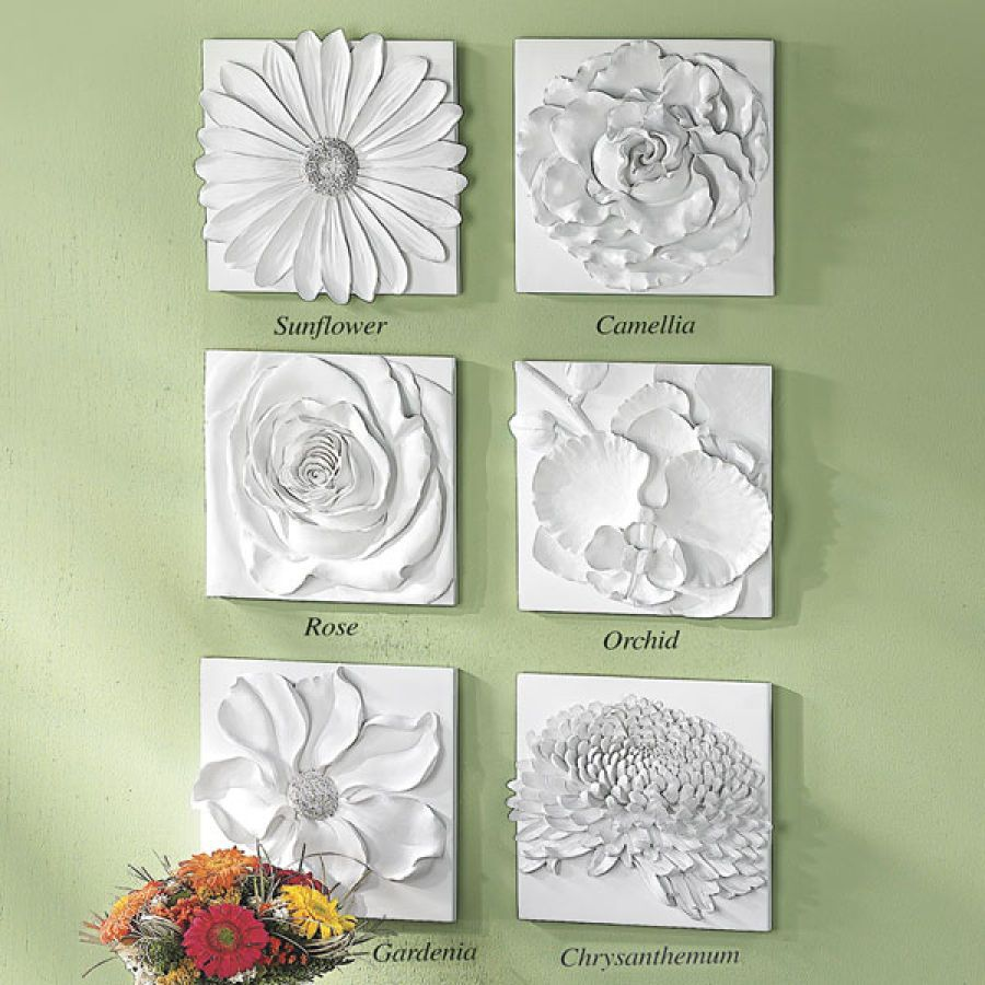 Blossom wall art great inspiration for paper or plaster for Plaster wall art