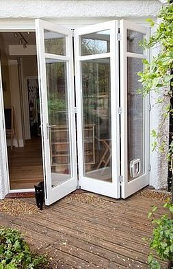 This Style Patio Door With The Cat Flap And Cat Puertas
