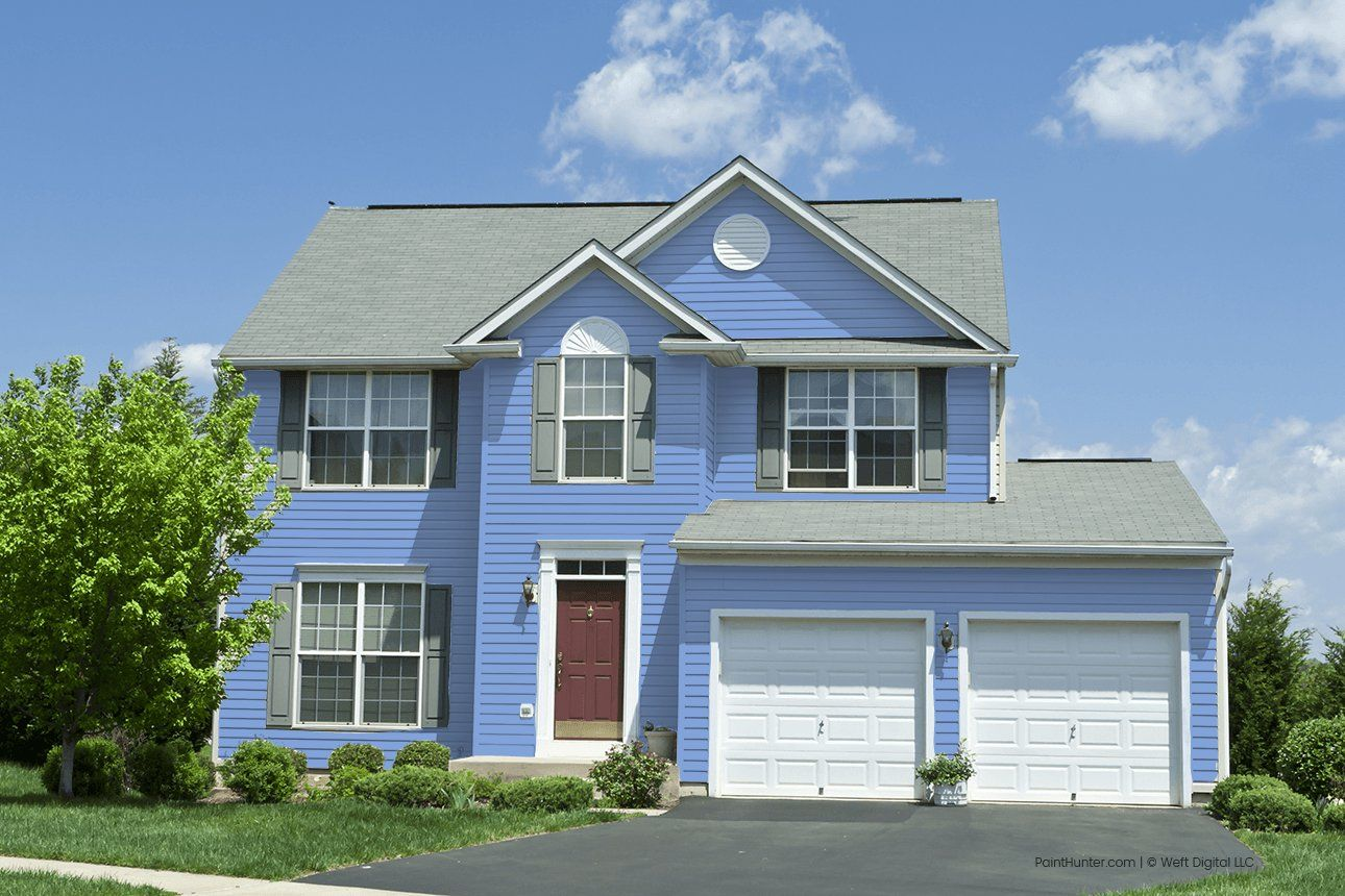 Painthunter Periwinkle By Behr We Buy Houses Vinyl Siding Rent To Own Homes