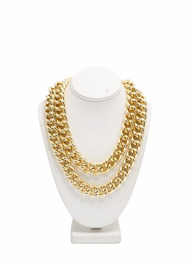 Double Chunky Chain Link Necklace