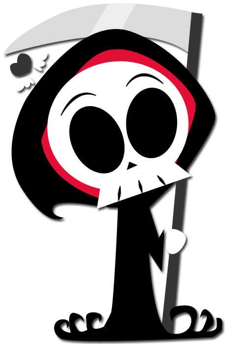 Chibi Fied Grim Reaper By Enigmatia On Deviantart Simple Cartoon Reaper Drawing Art