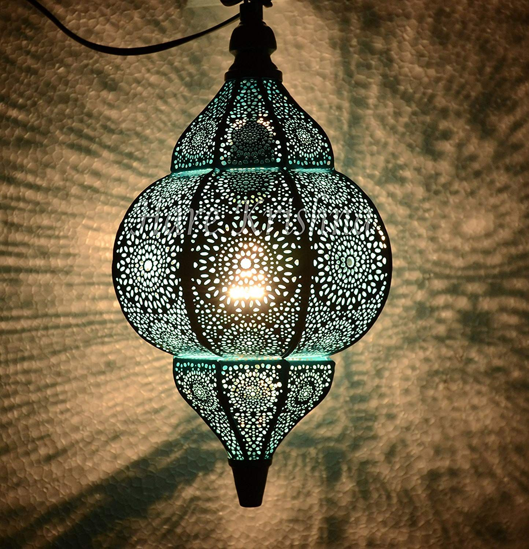 Indian Moroccan Style Metal Hanging Lighting Pendant Lamp