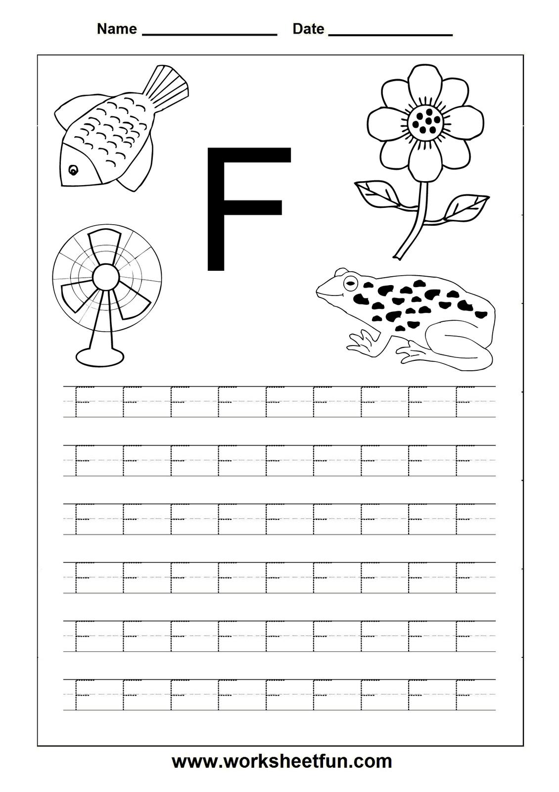 100+ [ Letter F Worksheets For Pre K ] | Pre Print Practice ...