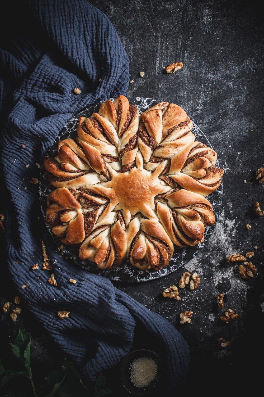 Walnut Chocolate Star Bread (Egg-free) - Use Your