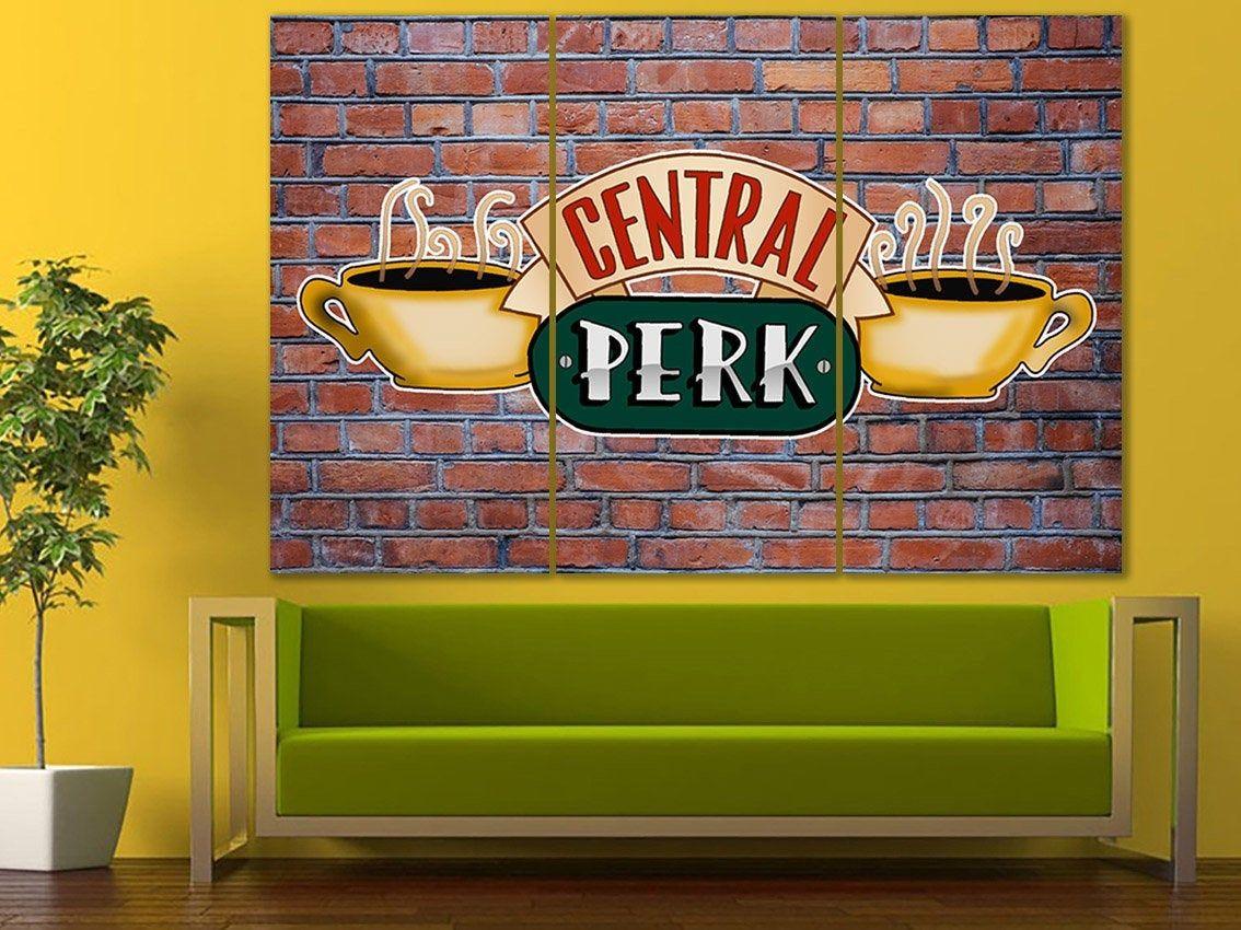 central perk canvas friends art tv shop