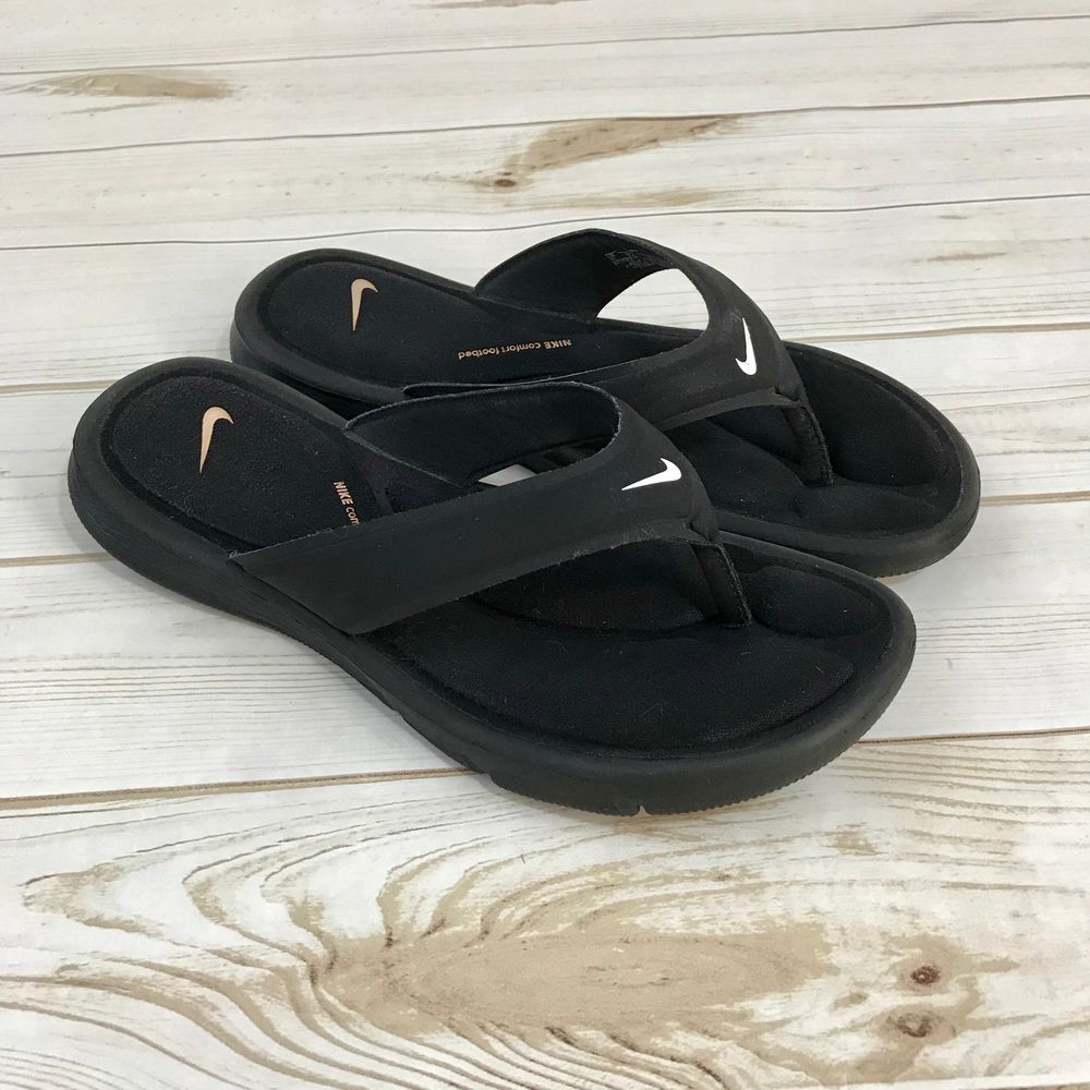 e535379f1fee NIKE Ultra Comfort Thong Black Flip Flop Sandals Size Womens 11  fashion   clothing  shoes  accessories  womensshoes  sandals (ebay link)