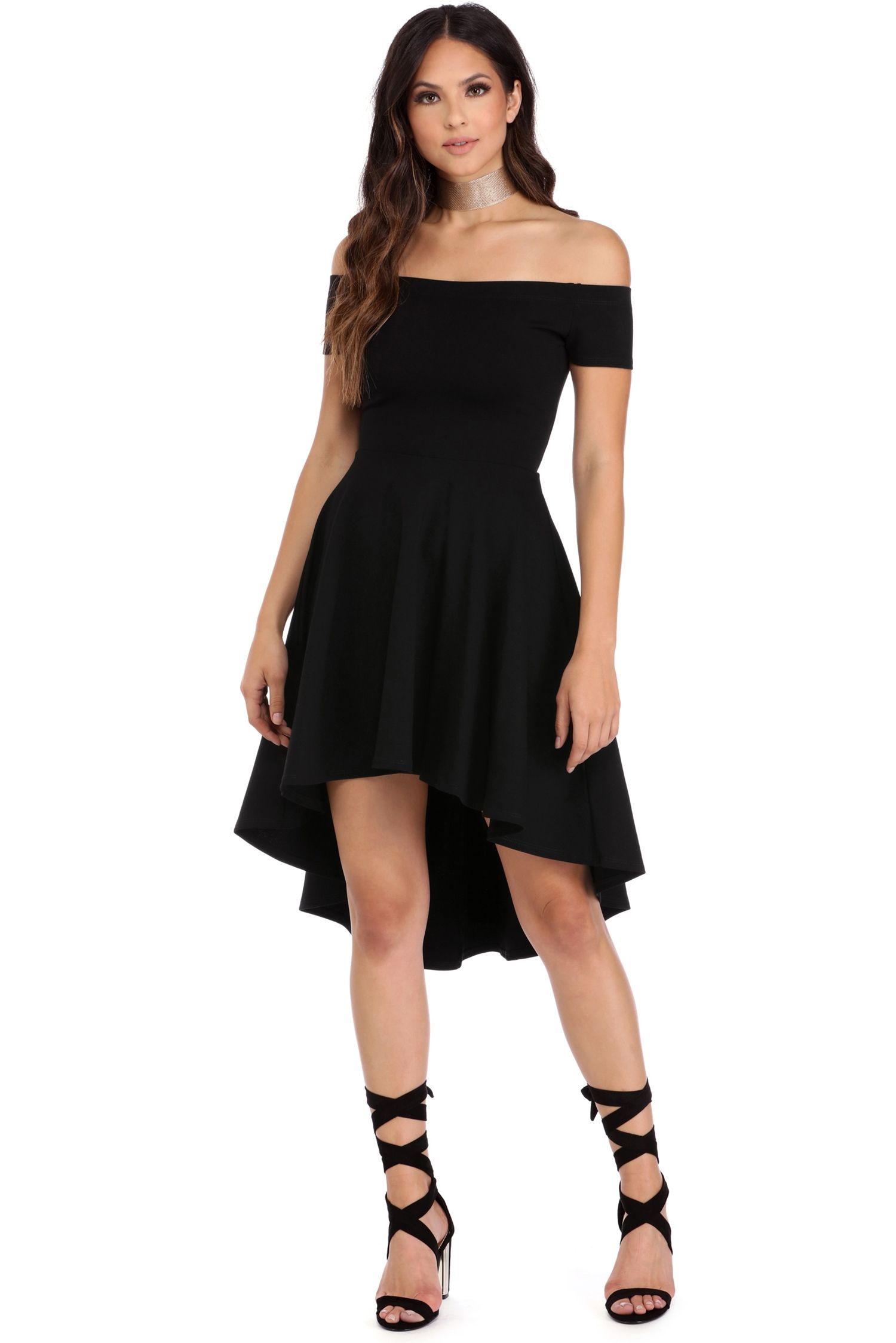 11ad9c284ef2 Black All The Rage Skater Dress