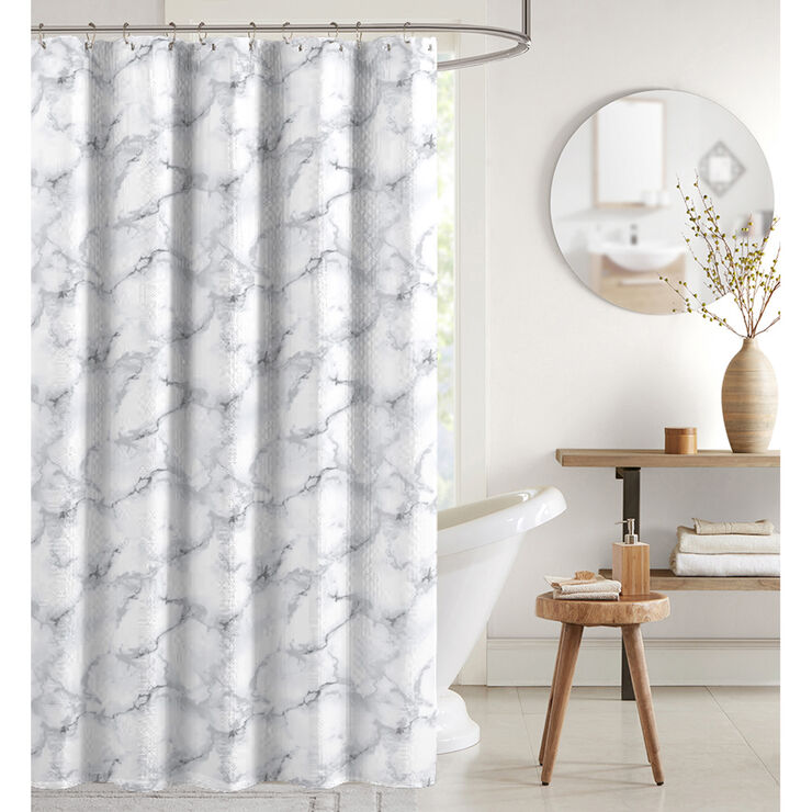 Marble Sc W Roller Hooks Beautiful Shower Curtains Shower