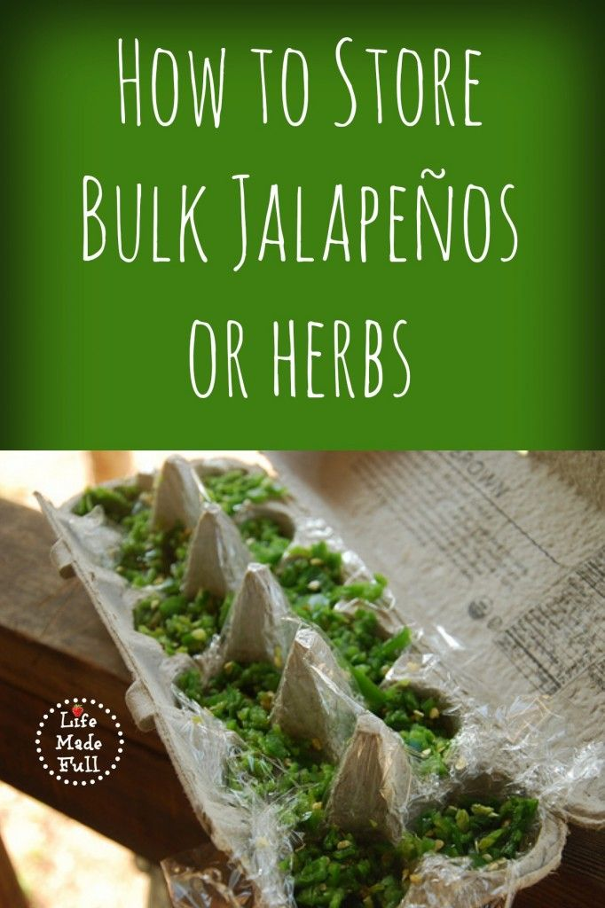 How to store bulk jalapenos or herbs! Genius!