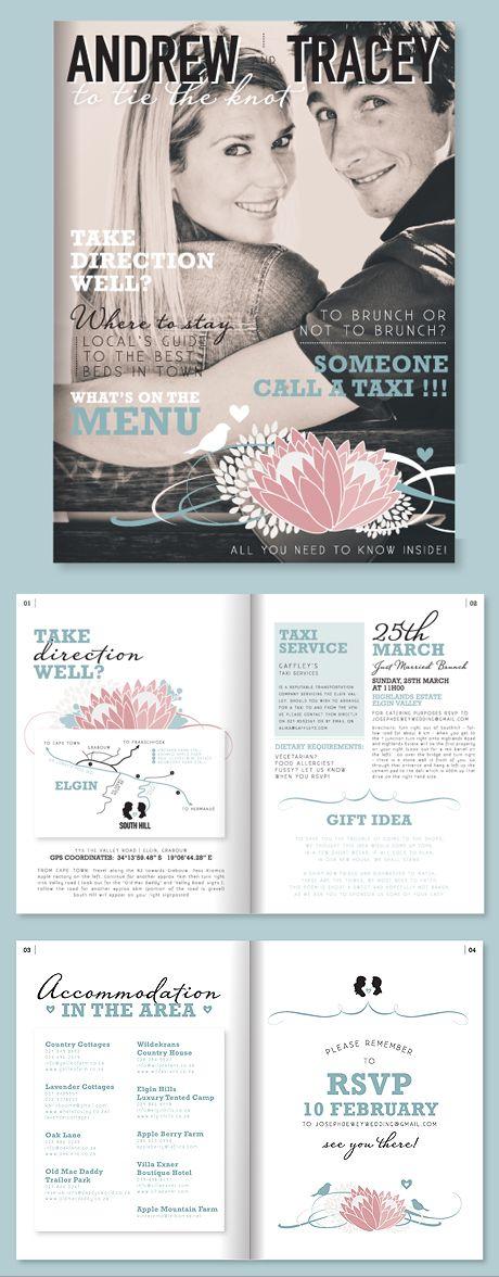 A magazine style e-invite makes for a fun, original wedding ...