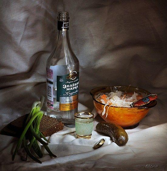 Фото водка и закуска   Водка, Закуски, Разное