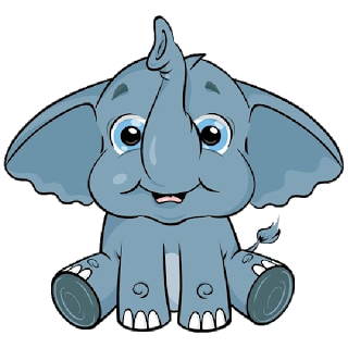 cute baby elephant cute cartoon clip art images all images are on a rh pinterest com elephant clipart for kids elephant clip art black and white