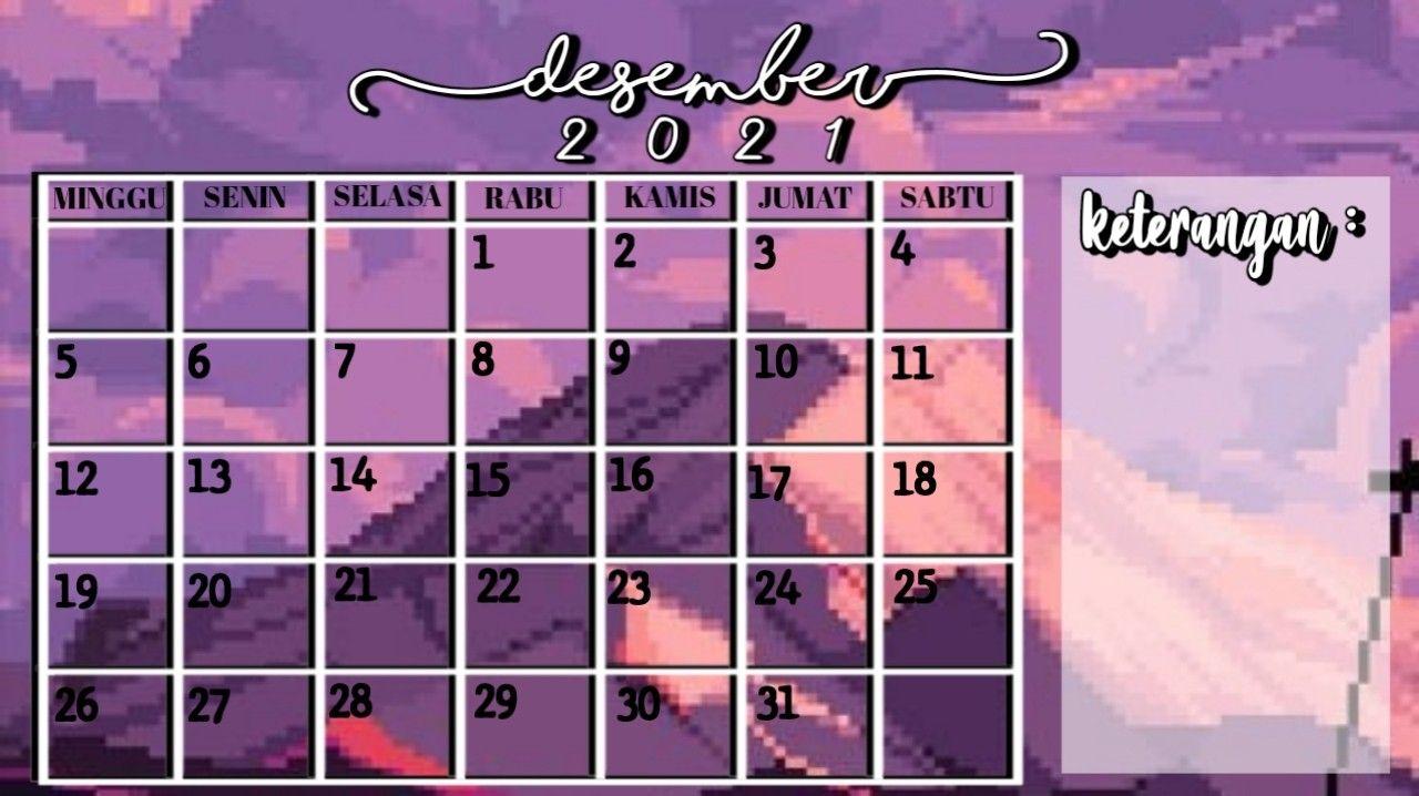 Aesthetic Kalender Desember 2021 Foto Sampul Kalender Cv Kreatif