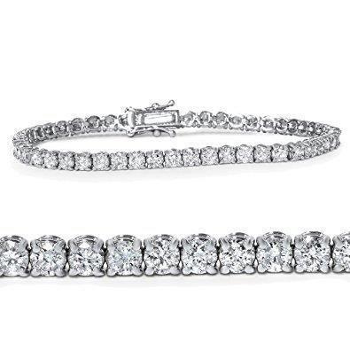 Sterling Silver Tennis Bracelet w// 2-Row 3.00 ct size Brilliant Cut CZ Stones