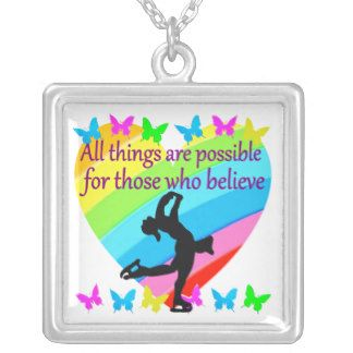 LOVE FILLED INSPIRATIONAL FIGURE SKATING DESIGN SQUARE PENDANT NECKLACE Awesome figure skating gifts for your beautiful Ice Princess.  http://www.zazzle.com/mysportsstar/gifts?cg=196621838645756107&rf=238246180177746410 #figureskating #Figureskater #Figureskatinggifts #BorntoSkate #Loveskating