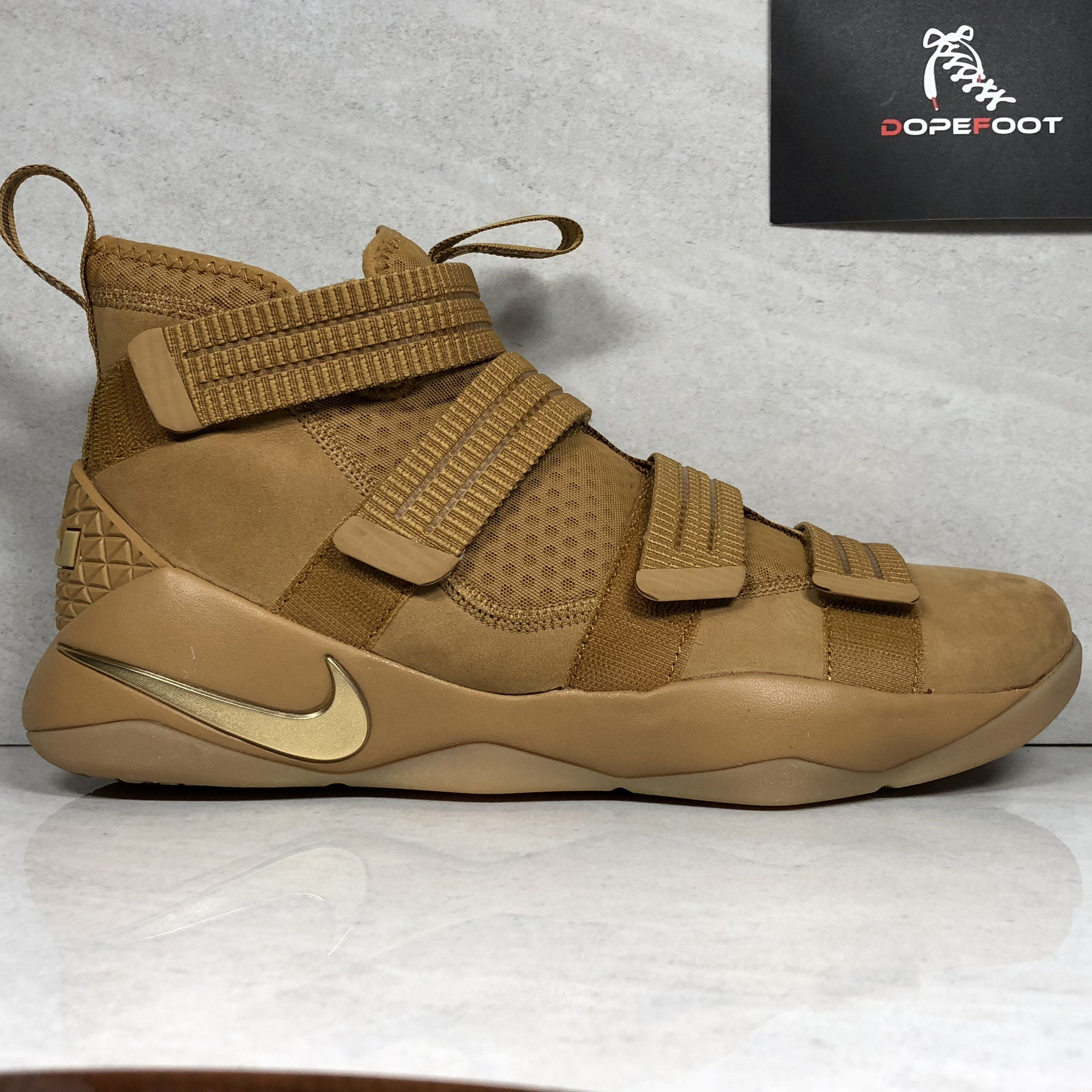 ca27f86abea DS Nike Lebron Soldier 11 XI SFG Size 10 Size 11.5 Wheat 897646 700 ...