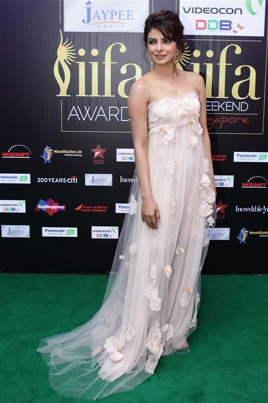 5a1b1d2802 Priyanka Chopra style - strapless floral gown -  Quantico  star Priyanka  Chopra s chic style