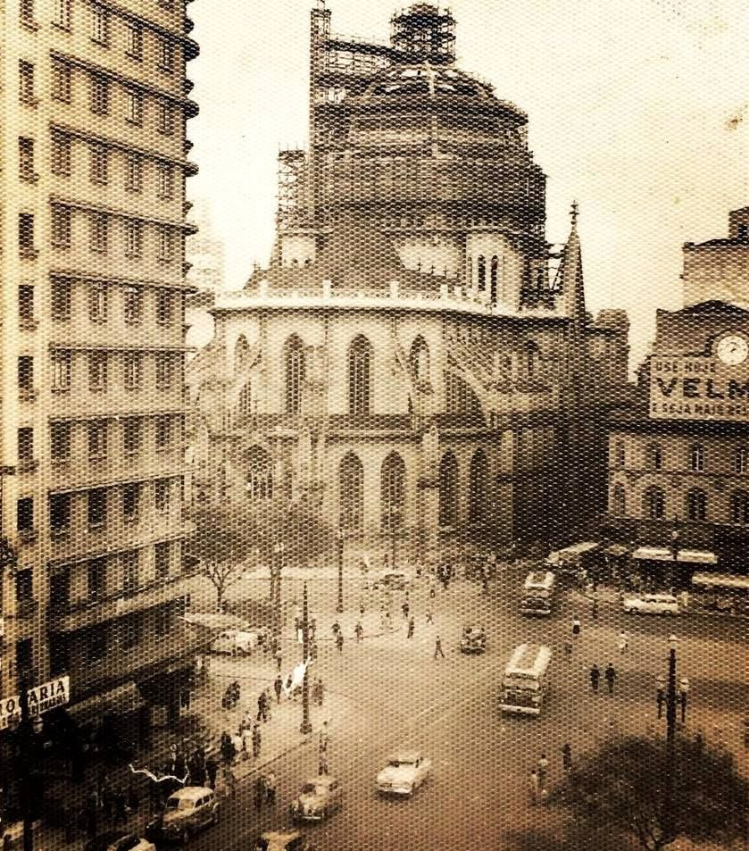 Praça João Mendes em São Paulo em 1953