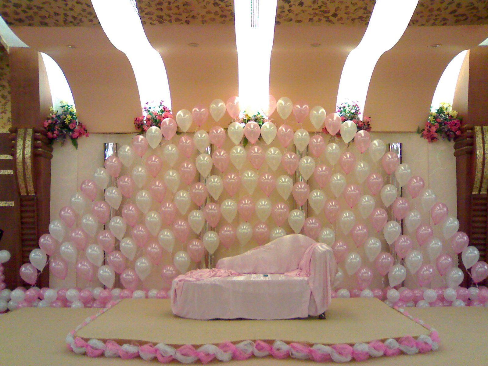 Wedding stage decor ideas  Back stage  Balloon Decor  Pinterest  Party party Decoration and