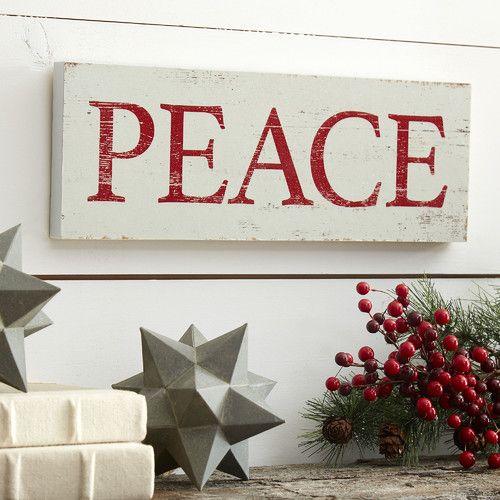 Peace Plaque #birchlane
