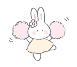The Fluffy Bunny Sticker 5 Line Stickers Line Store In 2020 Cute Little Drawings Bunny Painting Sticker Art