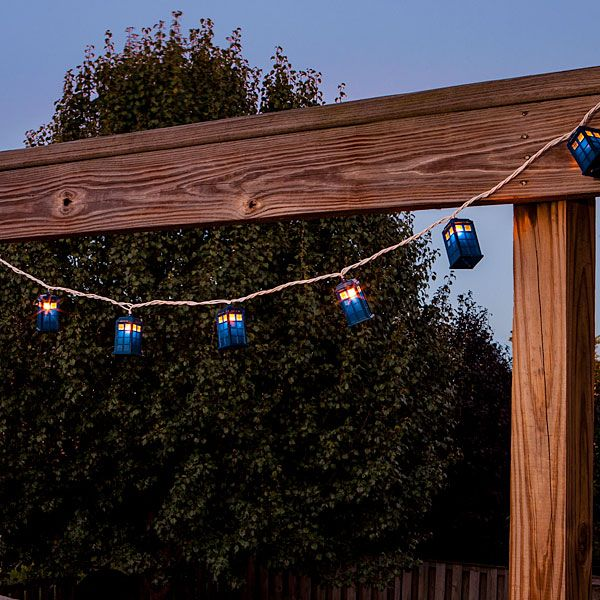 thinkgeek doctor who tardis string lights just what ive always wanted