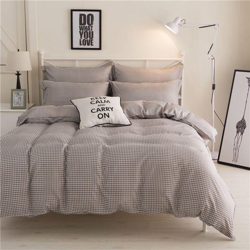Single Queen King Bett Set Kissenbezug Bettbezug Bettbezug Kaffee