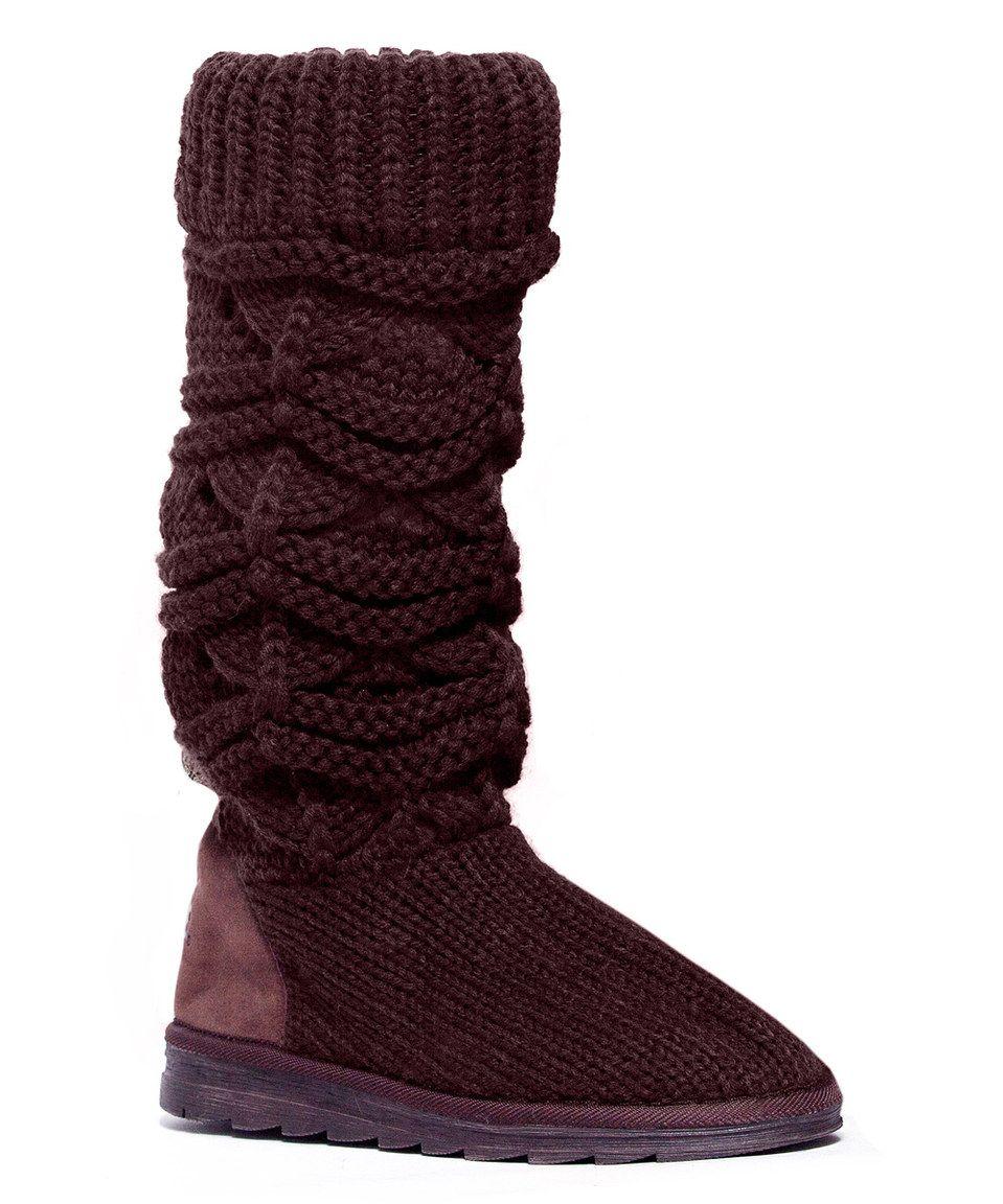 Loving this Chocolate Chip Jamie Knit Boot on #zulily! #zulilyfinds