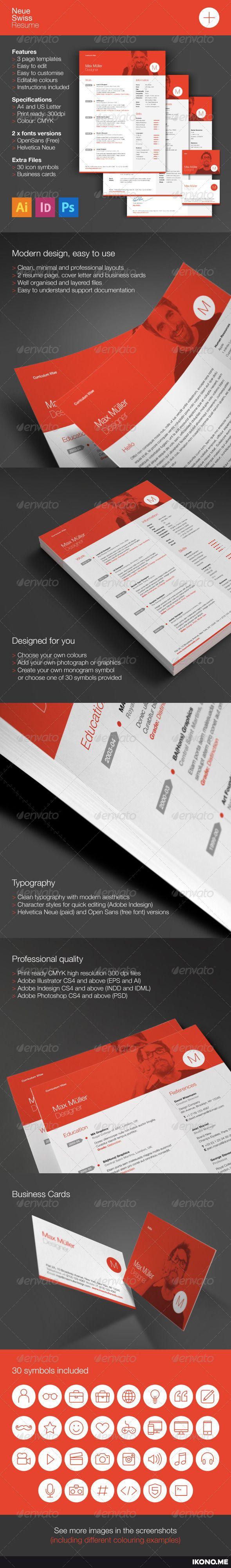 Neue swiss resume cv design layouts and print templates neue swiss resume cv yelopaper Gallery