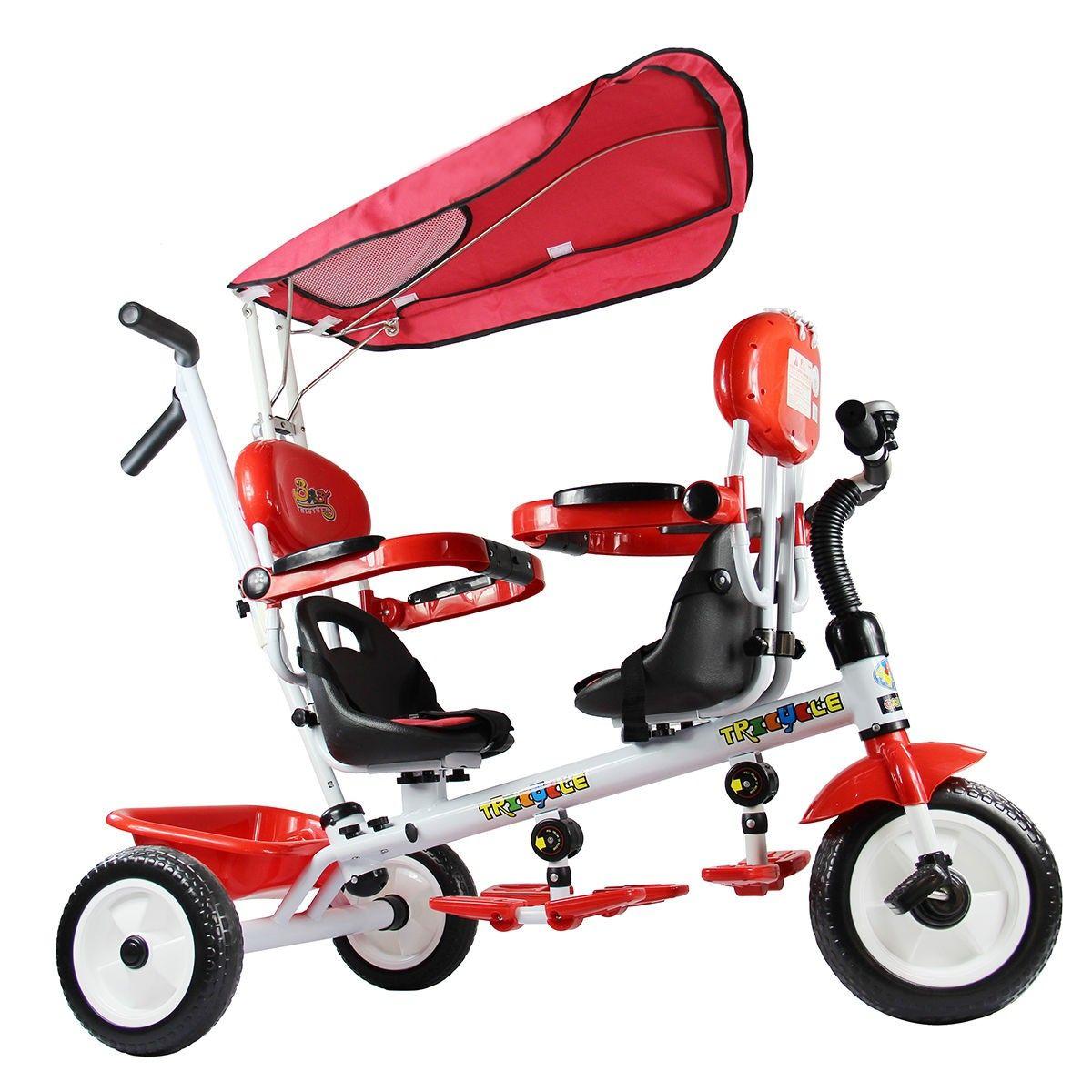 Costway 4 In 1 Kids Child Trike Tricycle 3 Wheel Bike W