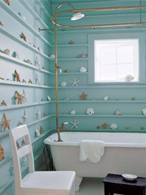 Need to adapt this look to my ocean-themed bathroom.  Photo: Dominique Vorillon, Courtesy of Filipacchi Publishing / The Nest